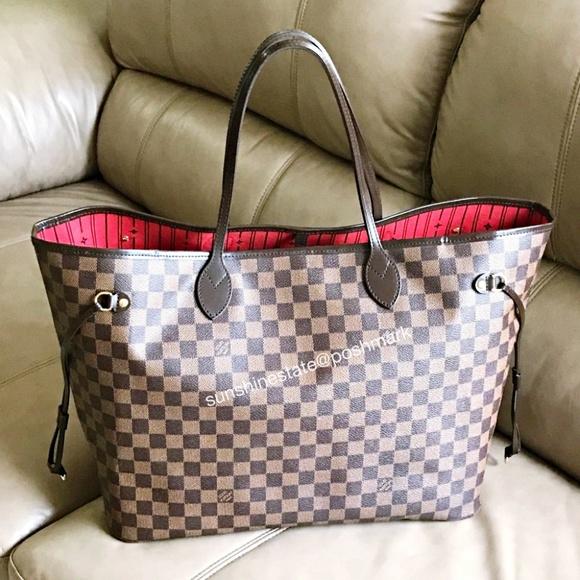 Louis Vuitton Bags   Neverfull Gm Damier Ebene Tote Bag   Poshmark 918afb2e61b